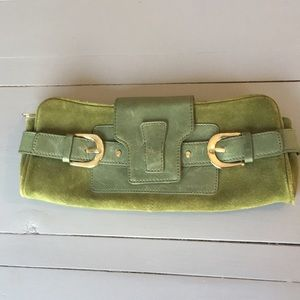 Banana Republic suede clutch